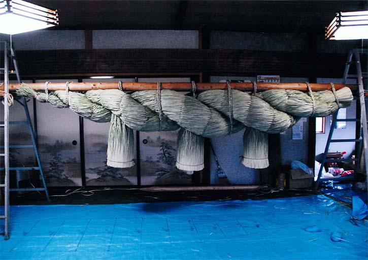 おお杉御田植え祭り、みとらずの稲穂、栃木県最大の注連縄(日光市 森友)