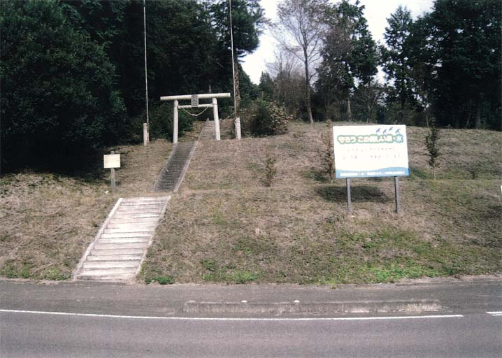 そびえ立つ加茂神社(高根沢町 桑窪)