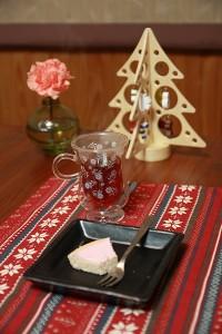 紅茶とチーズケーキ