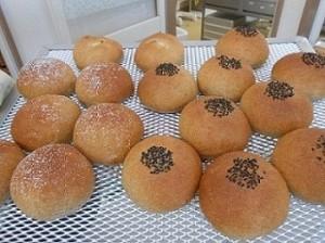 試作中のあんパン