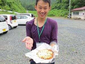 米粉ピザの完成