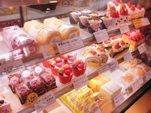 いちごのケーキたち