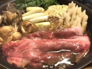 とちぎ和牛のすき焼きの写真